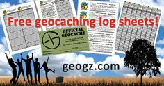 Visit geogz.com and download free, printable, professional looking geocaching log sheets, stash notes, labels and more! #IBGCp