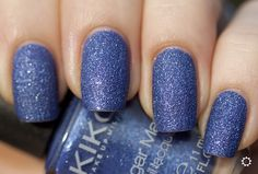 Mai senza smalto!: Swatch: Kiko 644 Sugar Mat Blu Mare - Sea Blue