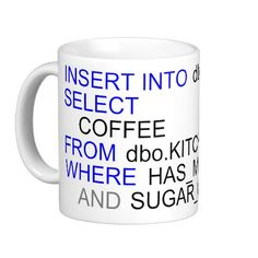 SQL Server Programmers Coffee Mug
