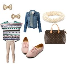 """school flow!"" by ladylyga on Polyvore"
