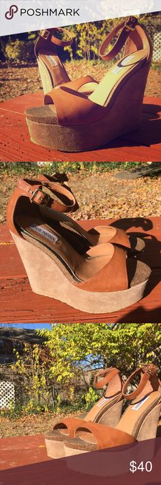 Steve Madden Corsica Wedges Only wore these beauties once!! Steve Madden Shoes Wedges