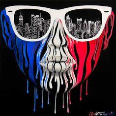 Pinturas pop art hechas con acrilico sobre lienzo