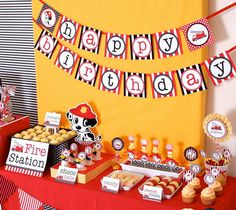 #PS814_Fire Engine Birthday Party...