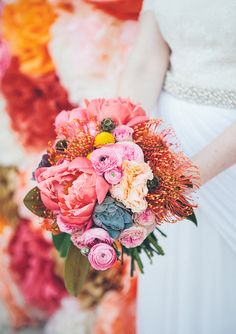 Colorful Los Angeles wedding | photo by Caleb John Hill Photography | 100 Layer Cake -repinned from Los Angeles County, California ceremony officiant https://OfficiantGuy.com #losangeles #weddings