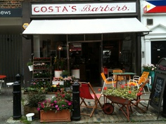 Just up the road on Battersea High Street, based in the old barber shop (hence the name) is Costa's Barbers an eclectic mix of interiors, coffee shop and seasonal plants and flowers, leading the way in the quiet revolution, Sarah Haines and Valeria Ruzzon, owner of Costa's Barbers have been working together for over a year and have now created the Christmas Crawl on December 1st.