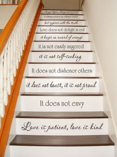 Wall Decal  Love is Patient Love is Kind  1 by VillageVinePress, $34.95