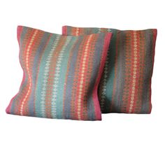 With a distinctive style, these finely woven flat weave pillows from India will add splendor to any decor. These hand-crafted pillows are unique pieces of world art that will enhance your living space.