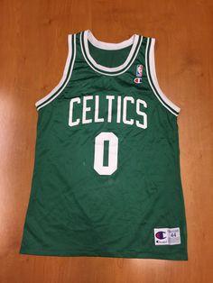 Vintage 1995 - 1996 Eric Montross Boston Celtics Champion Jersey Size 44  antoine walker nba finals dennis johnson kenny anderson billups unc 6f73f987d