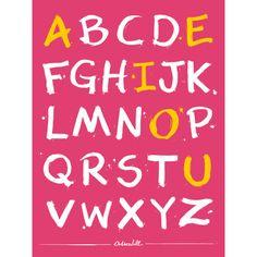 Alfabeto e Vogais Rosa