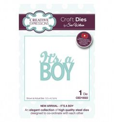 Craft Dies by Sue Wilson - New Arrivals Collection - It's a Boy CED10022 from…