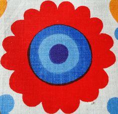 60s floral cotton
