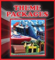 Theme packages Moon Bounce, Mechanical Bull, Casino Party, Stunts, Things That Bounce, Carnival, Entertainment, Waterfalls, Carnavals