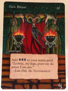 MTG Magic DARK RITUAL Deckmasters Hand Painted Altered Art Card OOAK #WizardsoftheCoast