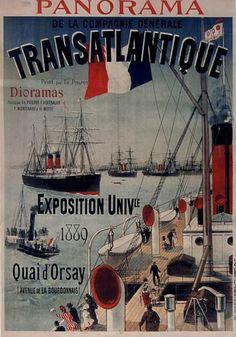 Panorama de la Compagnie Générale Transatlantique (Exposition universelle 1889 Paris)