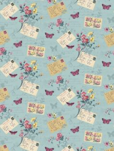 Postcards Home Blue Haze (950902) is taken from Sophie Conran's Reflections wallpaper collection. background, vintage