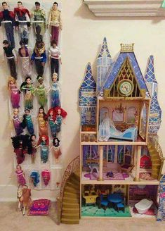 22 Kid-Friendly Playroom Storage Ideas - decorisme If you own a lo. - 22 Kid-Friendly Playroom Storage Ideas – decorisme If you own a lot of room around the bed, then you can also make a small sitting Source by - Dress Up Storage, Playroom Organization, Barbie Organization, Playroom Ideas, Playroom Colors, Toy Rooms, Kids Rooms, Room Kids, Toy Storage