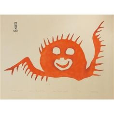 Kiakshuk was an Inuit artist and storyteller. It was not until he was in his that Kiakshuk took up drawing and print making, thanks to the encouragement of a friend. Inuit Art, Morning Sun, Canadian Artists, Art Auction, Original Artwork, Stencils, Moose Art, Fine Art, Art Prints