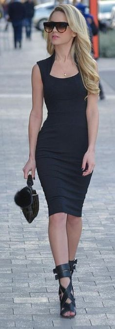 Classic LBD and Strappy Sandals   Shanda Rogers