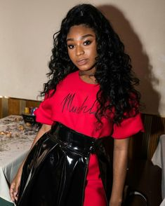 The go-to source for everything Fifth Harmony. Ebony Girls, Ebony Women, Straight Weave, Future Wife, Fifth Harmony, Black Is Beautiful, Black Girl Magic, Leather Skirt, Saree