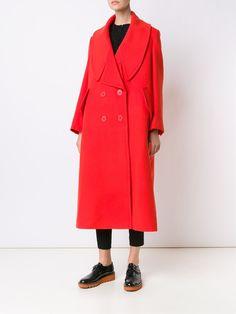 Stella McCartney oversized notched lapel coat