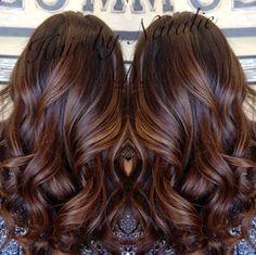 awesome long brown hair with caramel balayage- my dark brown hair looks amazing with caramel highlights! - gnarlyhair.com