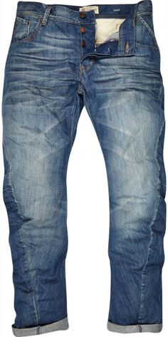Faded Denim, Loose Fit Jeans, Classic, Men's Spring Summer Fashion.