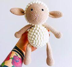 Baby pluto dog amigurumi free crochet pattern - Lovelycraft Crochet Elephant Pattern Free, Crochet Bear Patterns, Free Crochet, Free Pattern, Crochet Bunny, Reverse Single Crochet, Half Double Crochet, Cute Lamb, Bobble Stitch