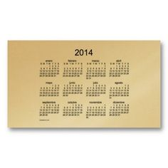 2014 tarjetas del calendario espanol de negocios business card template Design from Calendars by Janz