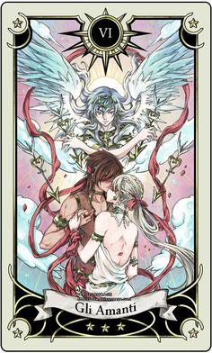 Tarot: The Lovers by *rann-rann on deviantART