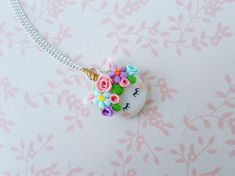 Unicorn necklace fantasy necklace polymer clay necklace