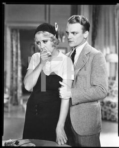 8x10 Film Negative  James Cagney Joan Blondell Blonde Crazy 1932 #2428