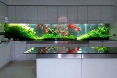 Идеи для «ландшафтного» дизайна пресноводного аквариума в интерьере #AquariumTanksIdeas