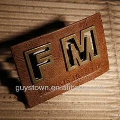 Custom Private Brand Name Logo Metal Hardware Label Denim Leather Tag Photo…