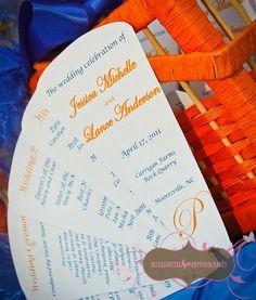 5 Petal Fan Wedding Programs. $2.25, via Etsy.