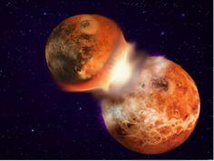 Kollision im frühen Sonnensystem ollision im frühen Sonnensystem Marsgroße Theia und Protoerde produzieren Mond und Erde. Alles Weitere ist noch nicht bis ins Detail verstanden.  Ein Team von Planetenkundlern glaubt nun, eine bessere Antwort geben zu können. Die Forscher meinen nach neuen, zehnfach genaueren Berechnungen des wilden Durcheinanders der Jugendphase des Sonnensystem, dass Theia doch eine Zusammensetzung wie die Protoerde hätte haben können. Folglich müssten der zu großen Teilen…