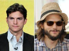 Ashton Kutcher - Comparaciones o descripciones - sin barba vs. con barba