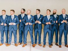 Blue Wedding Suits for Grooms and Groomsmen, Mandy Ford Photography Wedding Suit Rental, Blue Suit Wedding, Tuxedo Wedding, Wedding Men, Wedding Suits, Tux Rental, Wedding Ideas, Guys Wedding Attire, Menswear Wedding