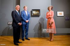 King Willem-Alexander and Queen Maxima of The Netherlands with President Marcelo Rebelo de Sousa visit the Museo Nacional Arte Antiga and the exhibition Rembrandt, Rijksmuseum and Royal Collectionson October 11, 2017 in Lisboa CDP, Portugal. (Photo by Patrick van Katwijk/Getty Images)