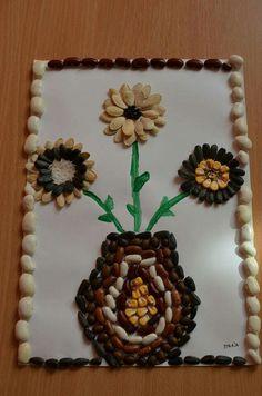 icu ~ Pin by Geanina Mocanu on Activități de toamnă Seed Crafts For Kids, Toddler Arts And Crafts, Diy Crafts For Home Decor, Easy Arts And Crafts, Craft Activities For Kids, Pista Shell Crafts, File Decoration Ideas, Seed Art, Autumn Crafts