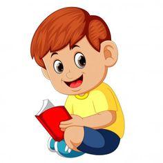 Libro de lectura chico lindo — Ilustración de stock Pop Art Vector, Boat Vector, Paint Vector, Vector Free, Reading Cartoon, Cartoon N, Flower Background Wallpaper, Flower Backgrounds, Back To School Wallpaper