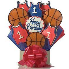 Birthday Basketball Cookie Bouquet