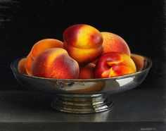 Jessica Brown. Still Life with Nectarines and Peaches