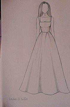 Dress Design Drawing, Dress Design Sketches, Fashion Design Sketchbook, Girl Drawing Sketches, Girly Drawings, Fashion Illustration Sketches, Fashion Design Drawings, Art Drawings Sketches Simple, Fashion Sketches