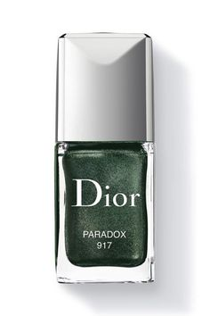 For fall, try a metallic green polish.