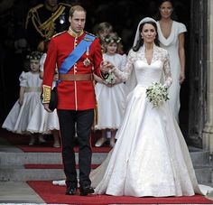 Prince William and Catherine Middleton now The Duke and Duchess of Cambridge after  their wedding on April 29, 2011.
