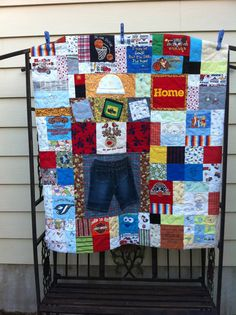 quilting from baby clothes