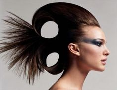 very high fashion makeup and hair!