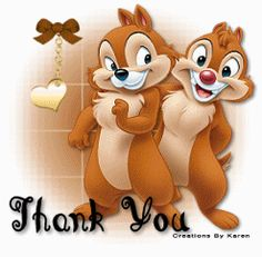 Gadget - Chip 'n Dale Rescue Rangers Photo - Fanpop Thank You Messages Gratitude, Thank You Greetings, Thank You Quotes, Thank You Cards, Pluto Disney, Mickey Disney, Disney Magic, Gif Animé, Animated Gif