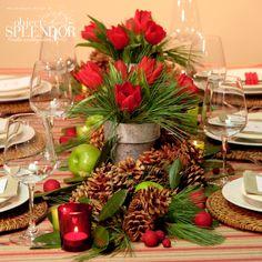 floral Christmas centerpieces 35