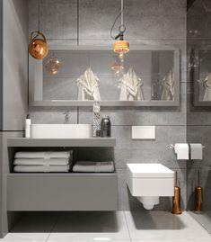 "Apartament 3 camere - Complex ""Nordis"" București - Creativ-Interior Double Vanity, Interior, Bathroom, Modern, Design, Balcony, Granite Counters, Washroom, Trendy Tree"